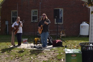 The band at the Easton Farmer's Market