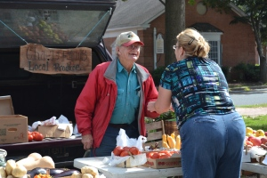 A few of the vendors at the Eaton Farmer's Market
